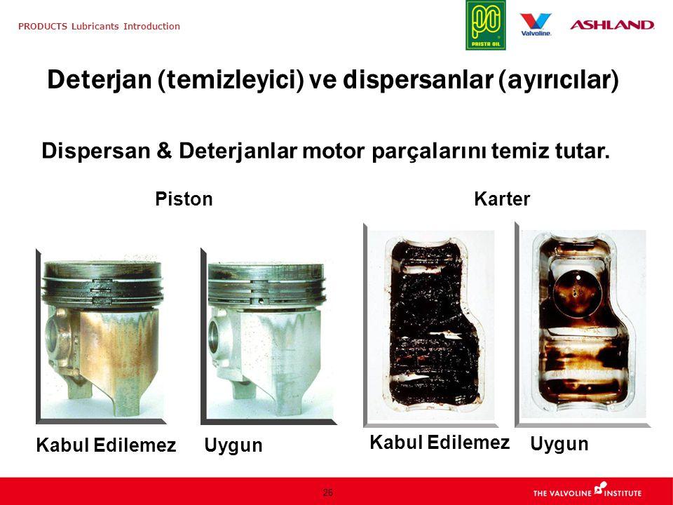 Deterjan (temizleyici) ve dispersanlar (ayırıcılar)