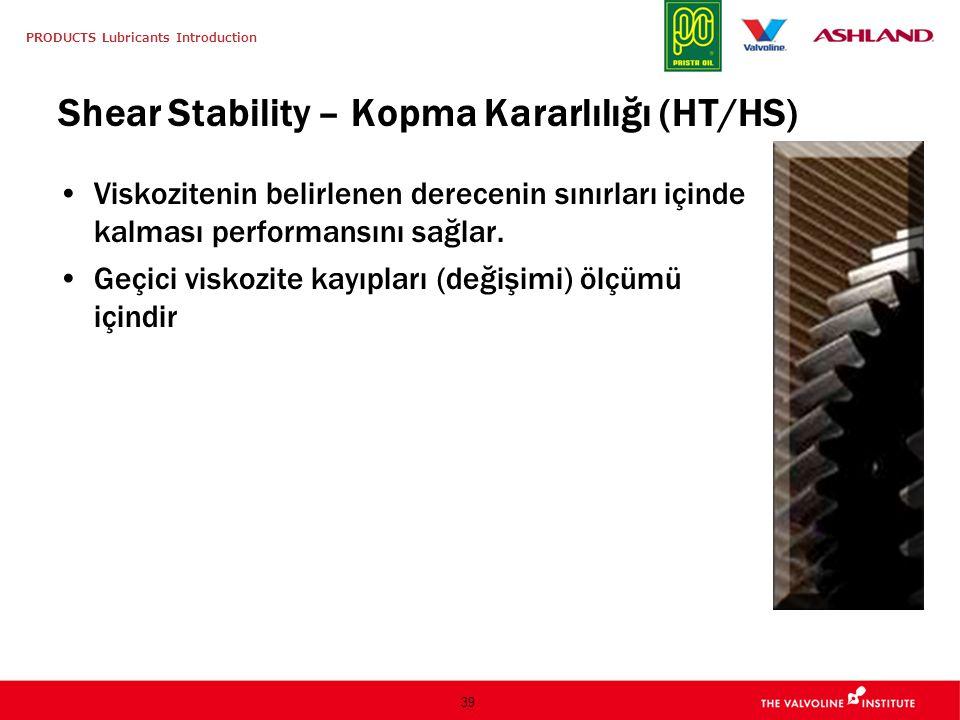 Shear Stability – Kopma Kararlılığı (HT/HS)