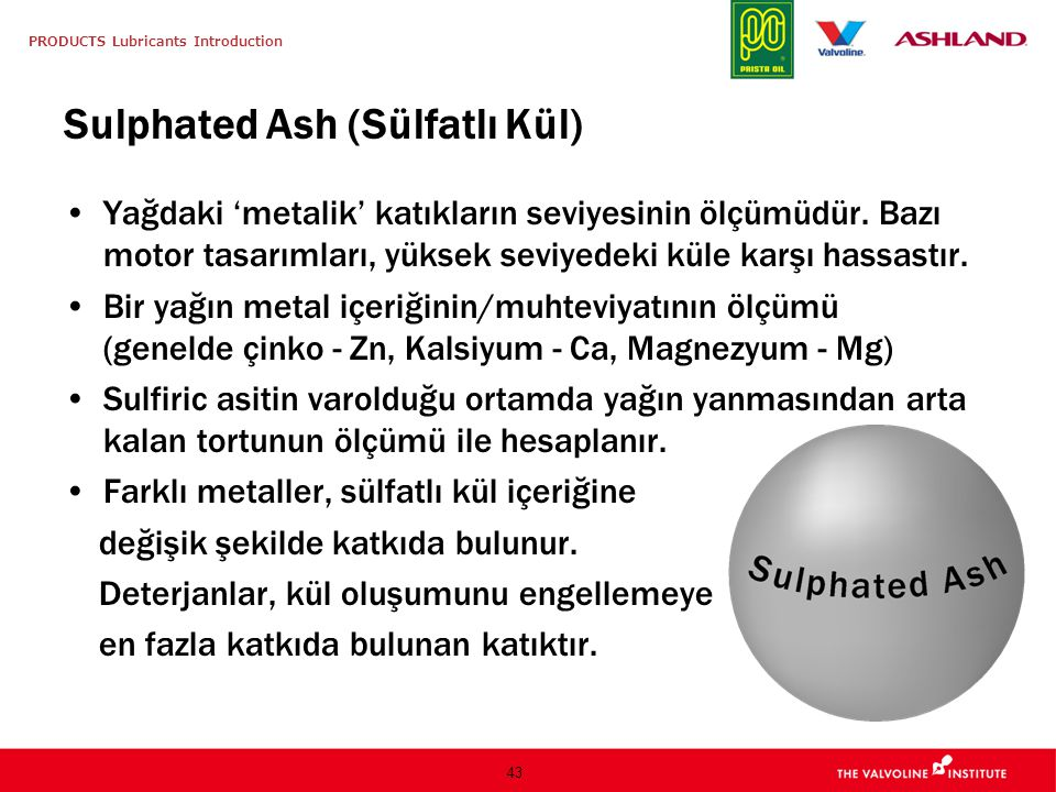 Sulphated Ash (Sülfatlı Kül)