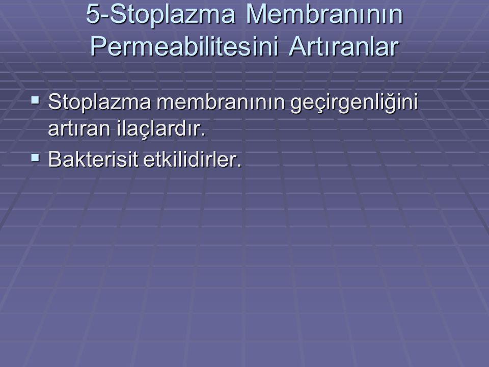 5-Stoplazma Membranının Permeabilitesini Artıranlar
