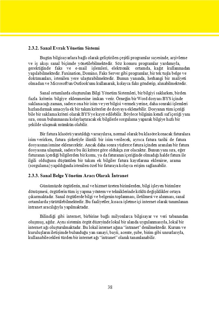 2.3.2. Sanal Evrak Yönetim Sistemi
