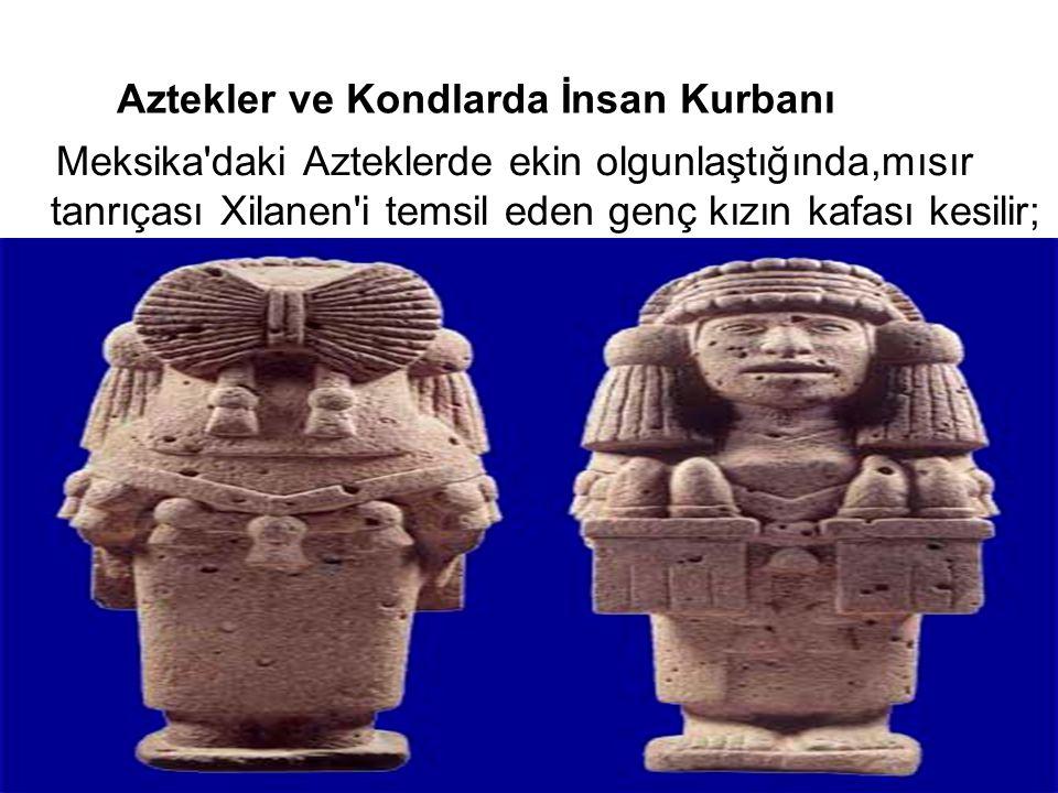 Aztekler ve Kondlarda İnsan Kurbanı