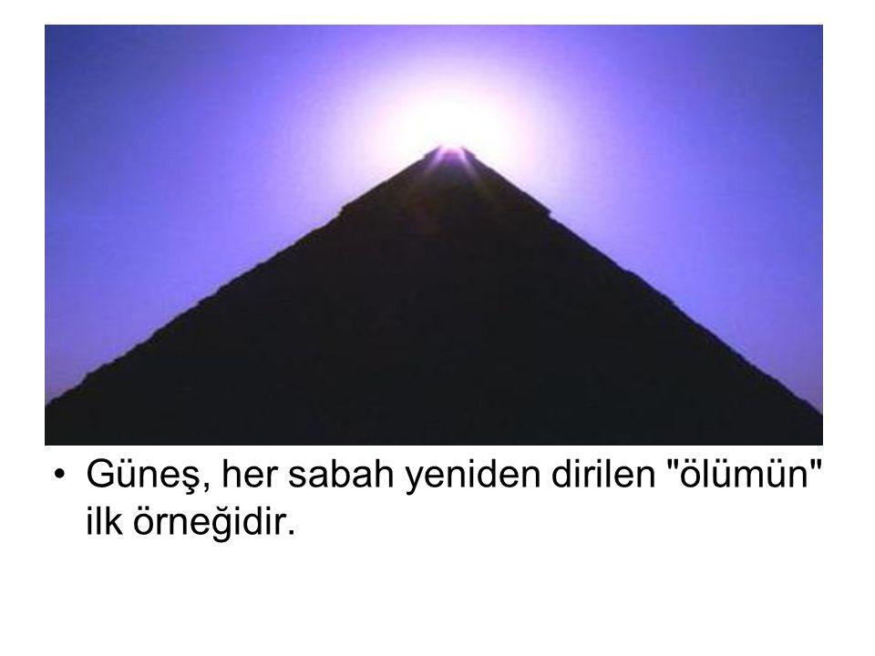 Güneş, her sabah yeniden dirilen ölümün ilk örneğidir.