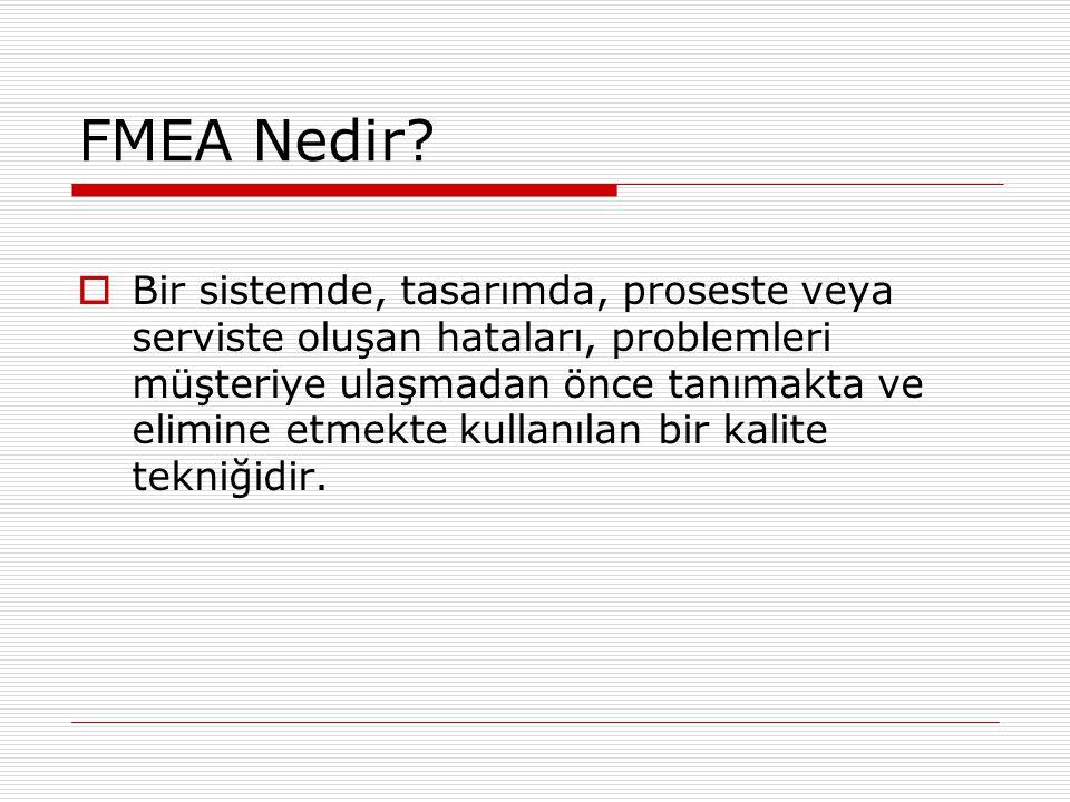 FMEA Nedir