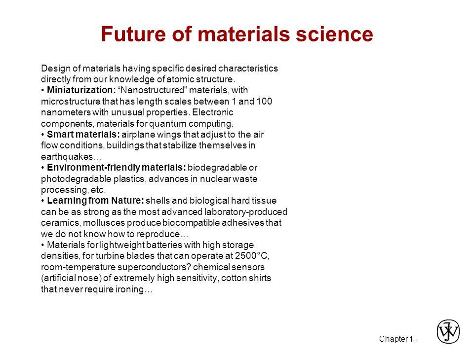 Future of materials science