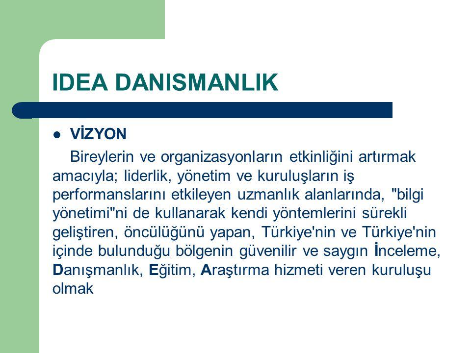 IDEA DANISMANLIK VİZYON