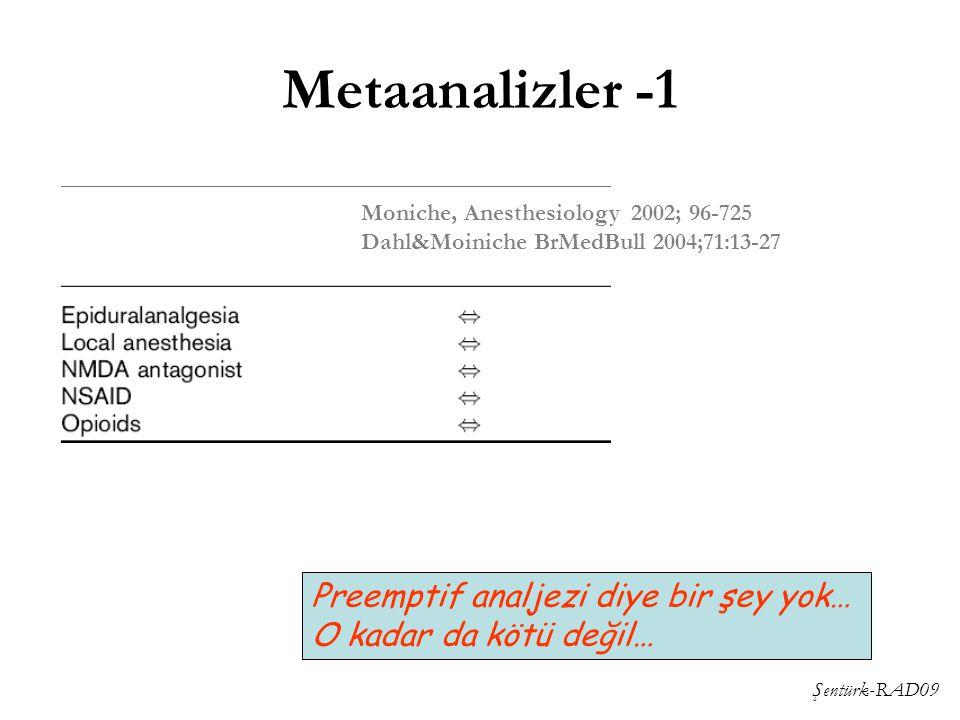 Metaanalizler -1 Preemptif analjezi diye bir şey yok…