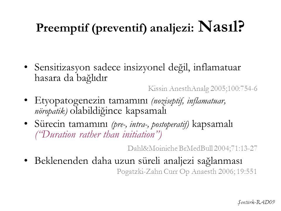 Preemptif (preventif) analjezi: Nasıl