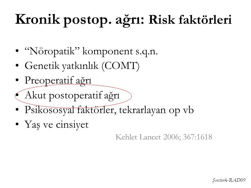 Kronik postop. ağrı: Risk faktörleri