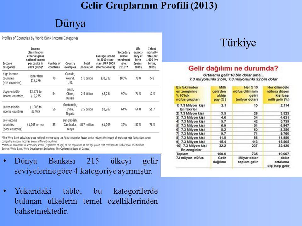 Gelir Gruplarının Profili (2013)