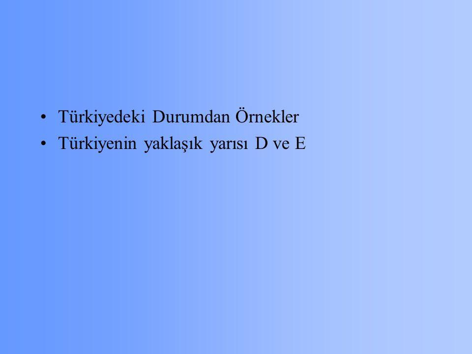 Türkiyedeki Durumdan Örnekler