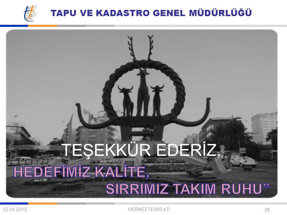 TEŞEKKÜR EDERİZ. HEDEFİMİZ KALİTE, SIRRIMIZ TAKIM RUHU 09.04.2017