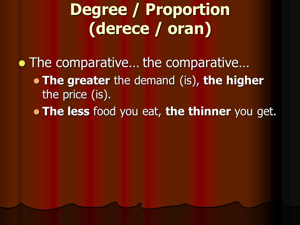 Degree / Proportion (derece / oran)
