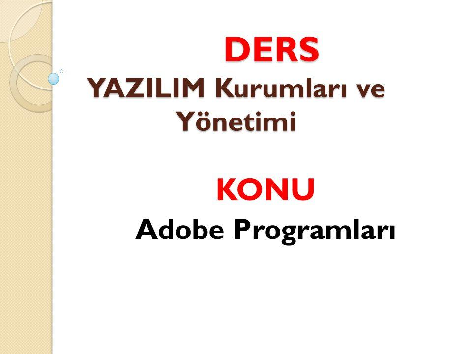 DERS YAZILIM Kurumları ve Yönetimi