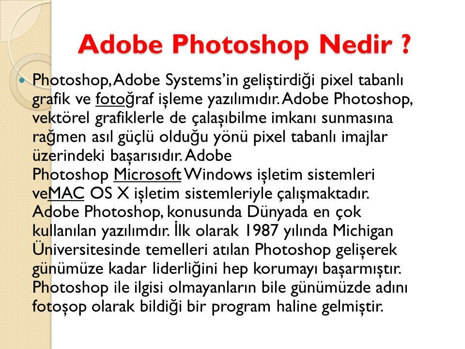Adobe Photoshop Nedir