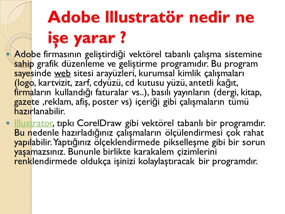 Adobe lllustratör nedir ne işe yarar