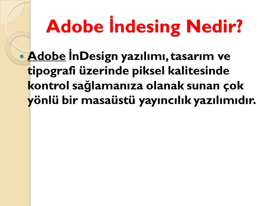 Adobe İndesing Nedir