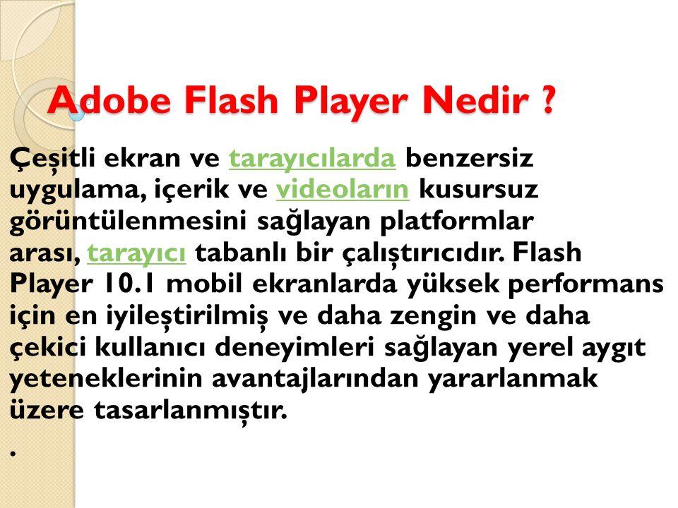 Adobe Flash Player Nedir