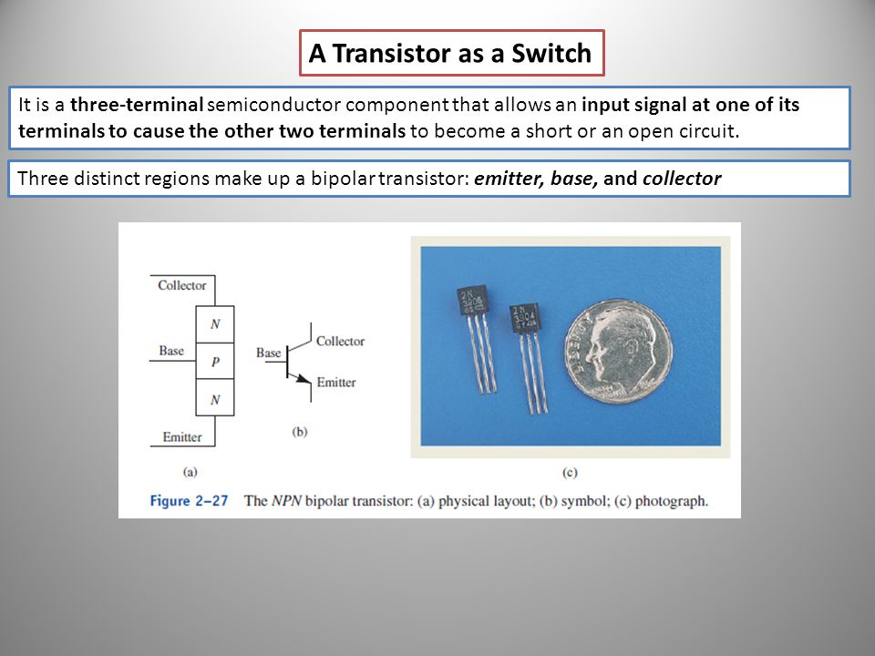 A Transistor as a Switch
