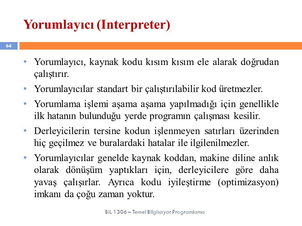 Yorumlayıcı (Interpreter)