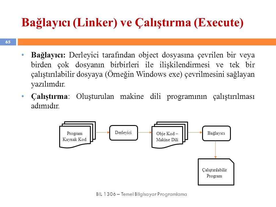 Bağlayıcı (Linker) ve Çalıştırma (Execute)