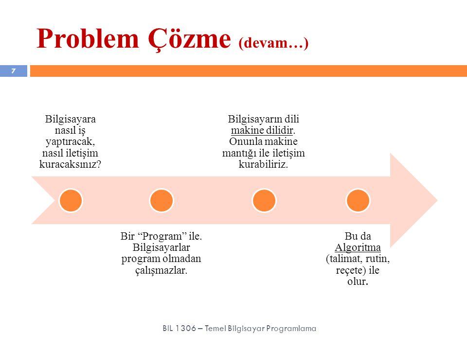 Problem Çözme (devam…)