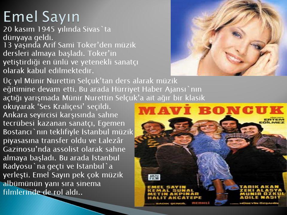 Emel Sayın 20 kasım 1945 yılında Sivas`ta dünyaya geldi.