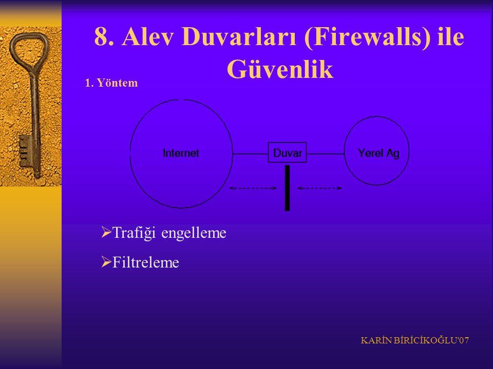 8. Alev Duvarları (Firewalls) ile Güvenlik