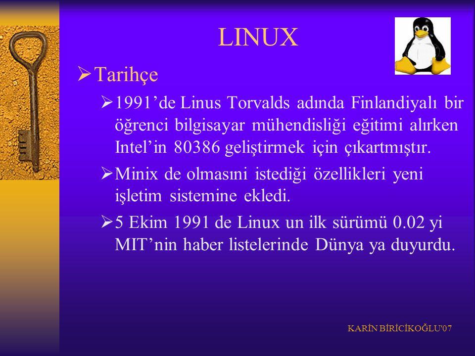 LINUX Tarihçe.