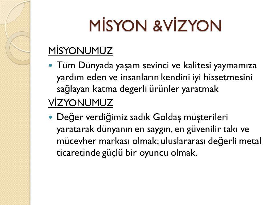 MİSYON &VİZYON MİSYONUMUZ