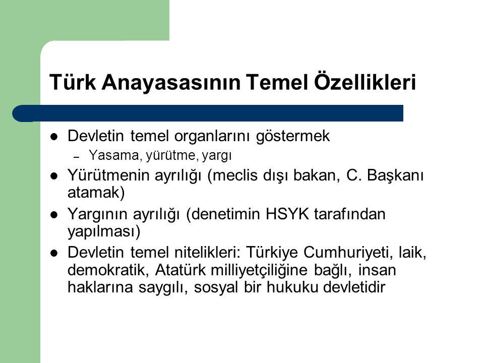 Türk Anayasasının Temel Özellikleri