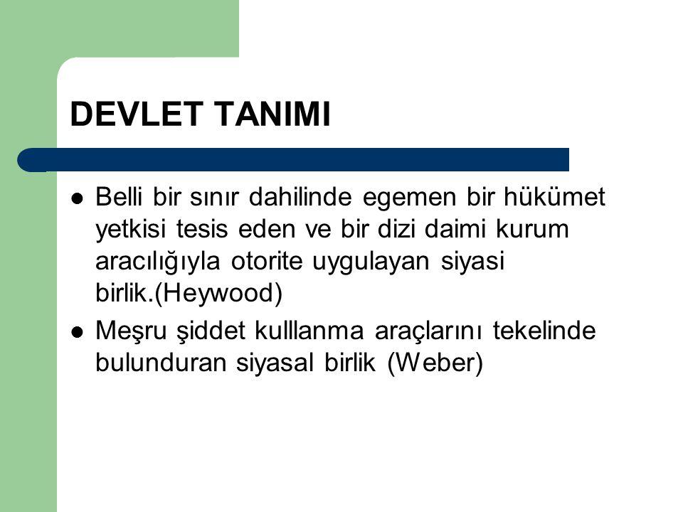 DEVLET TANIMI