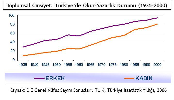 Toplumsal Cinsiyet: Türkiye'de Okur-Yazarlık Durumu (1935-2000)