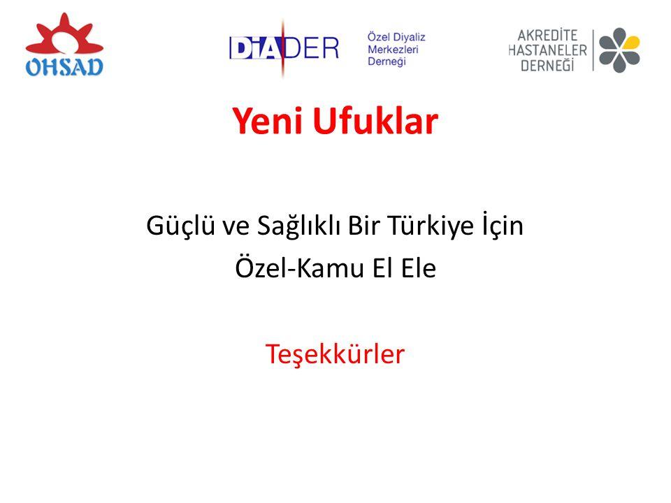 Güçlü ve Sağlıklı Bir Türkiye İçin