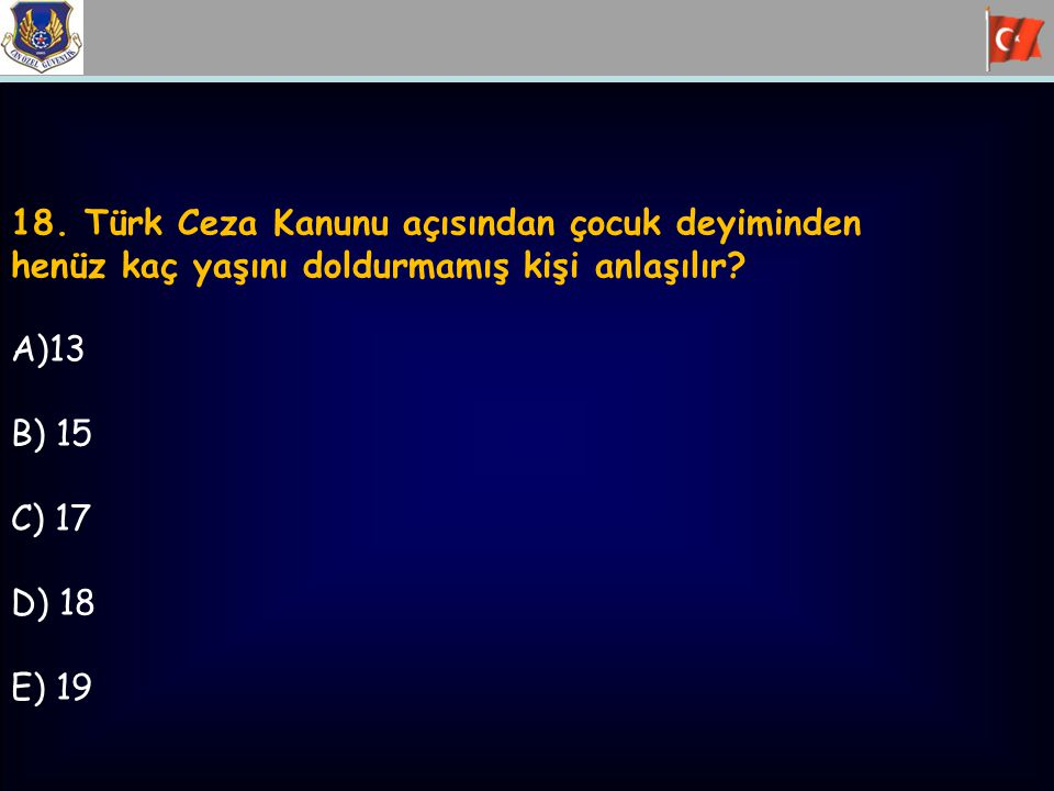 18. Türk Ceza Kanunu açısından çocuk deyiminden