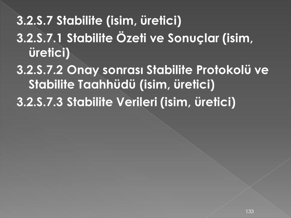 3. 2. S. 7 Stabilite (isim, üretici) 3. 2. S. 7