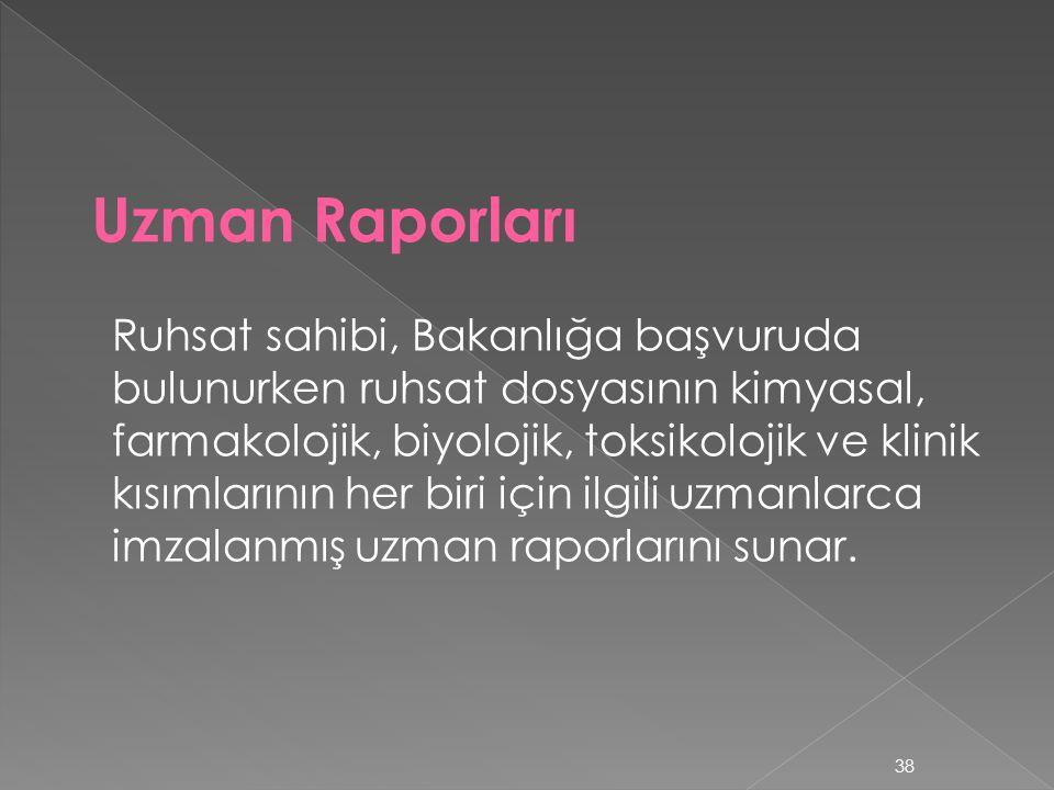 Uzman Raporları