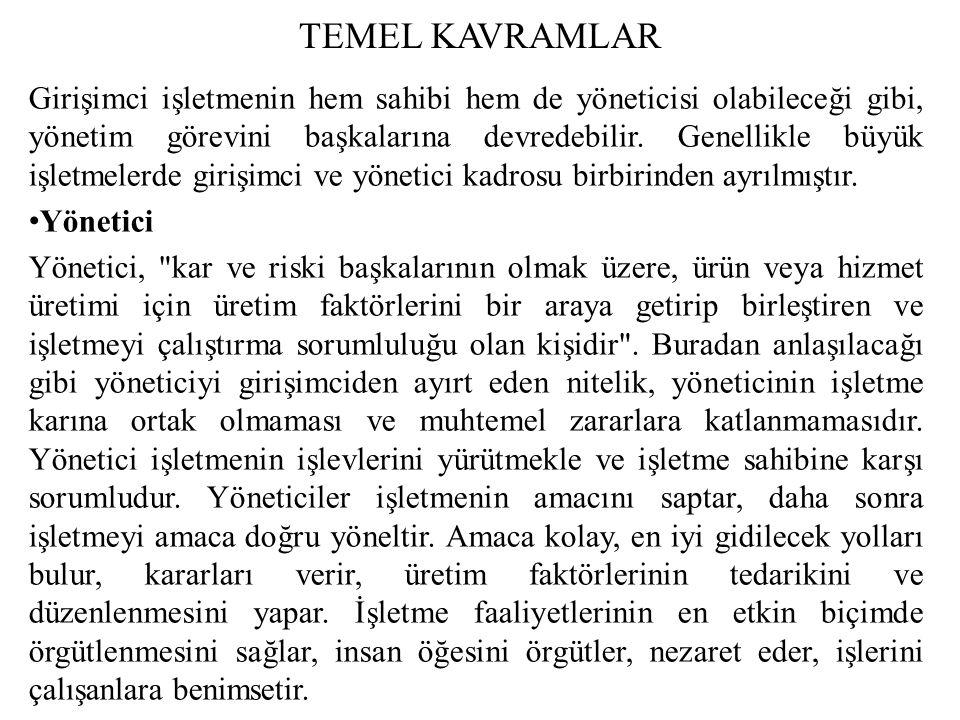 TEMEL KAVRAMLAR