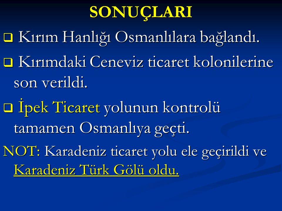 Kırım Hanlığı Osmanlılara bağlandı.