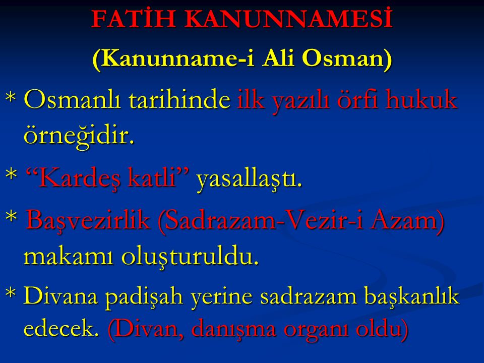 (Kanunname-i Ali Osman)