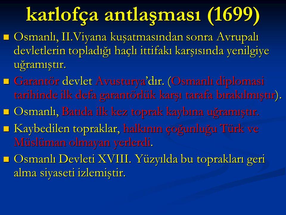 karlofça antlaşması (1699)