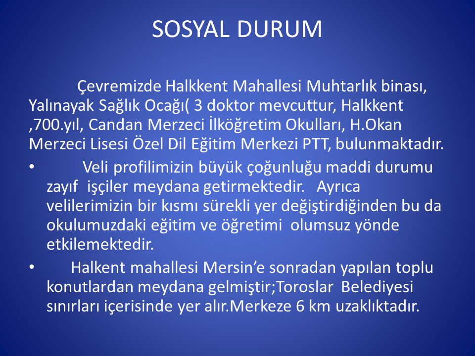 SOSYAL DURUM