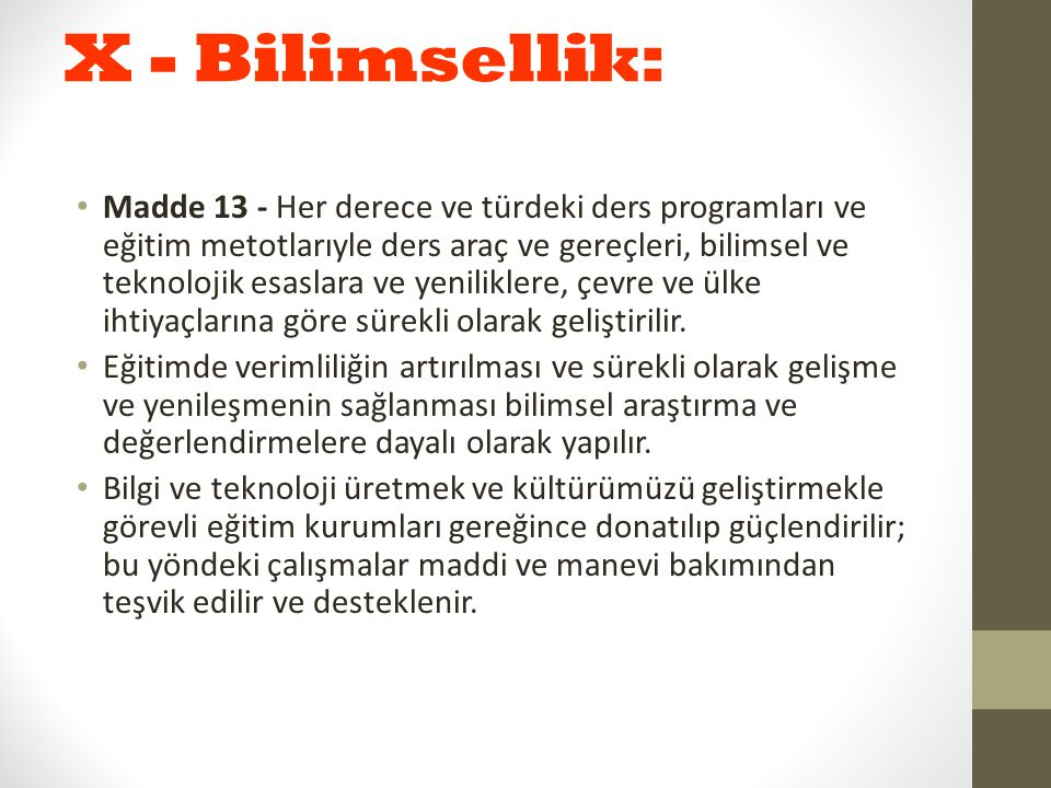 X - Bilimsellik: