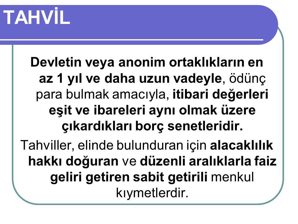 TAHVİL