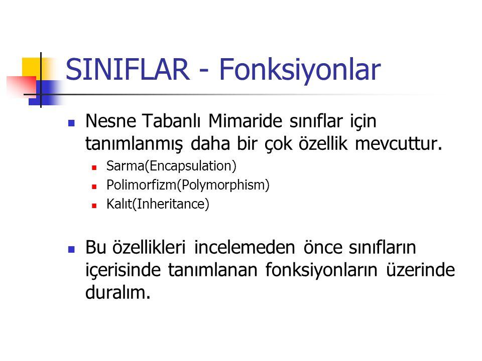 SINIFLAR - Fonksiyonlar
