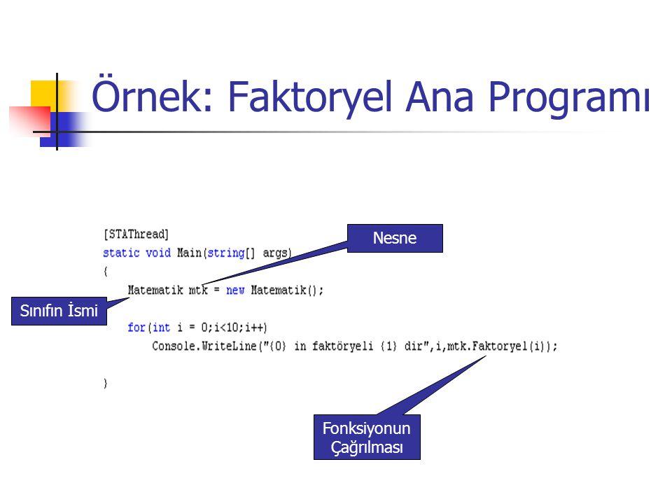Örnek: Faktoryel Ana Programı