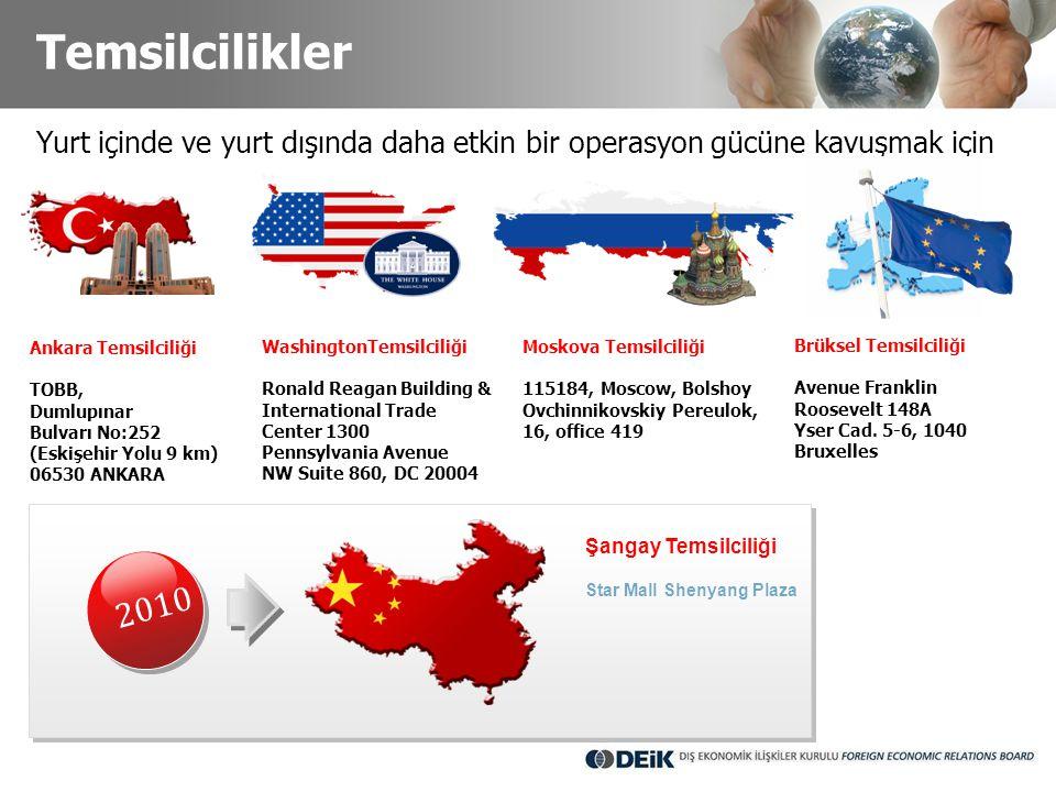 Temsilcilikler Yurt içinde ve yurt dışında daha etkin bir operasyon gücüne kavuşmak için. Ankara Temsilciliği.