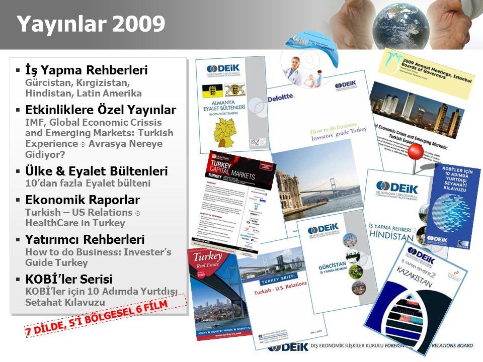 Yayınlar 2009 İş Yapma Rehberleri Gürcistan, Kırgizistan, Hindistan, Latin Amerika.