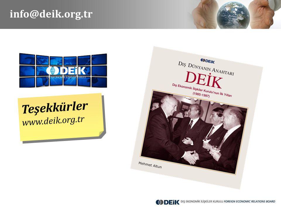 info@deik.org.tr Teşekkürler www.deik.org.tr