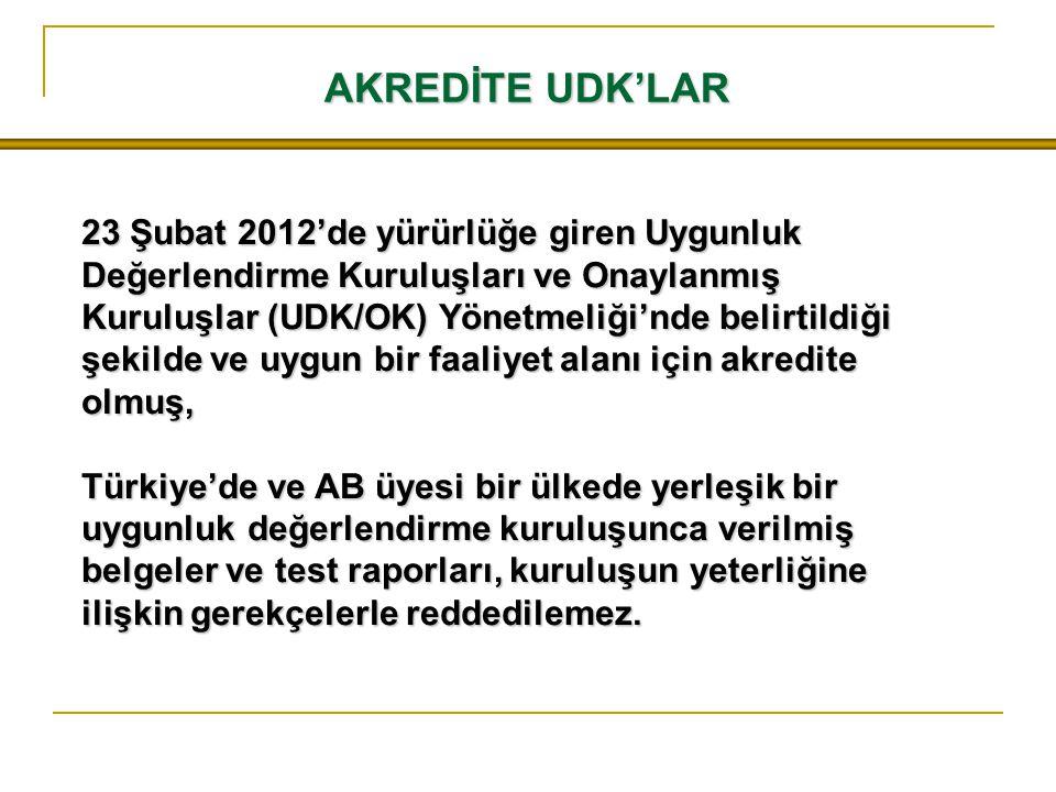 AKREDİTE UDK'LAR